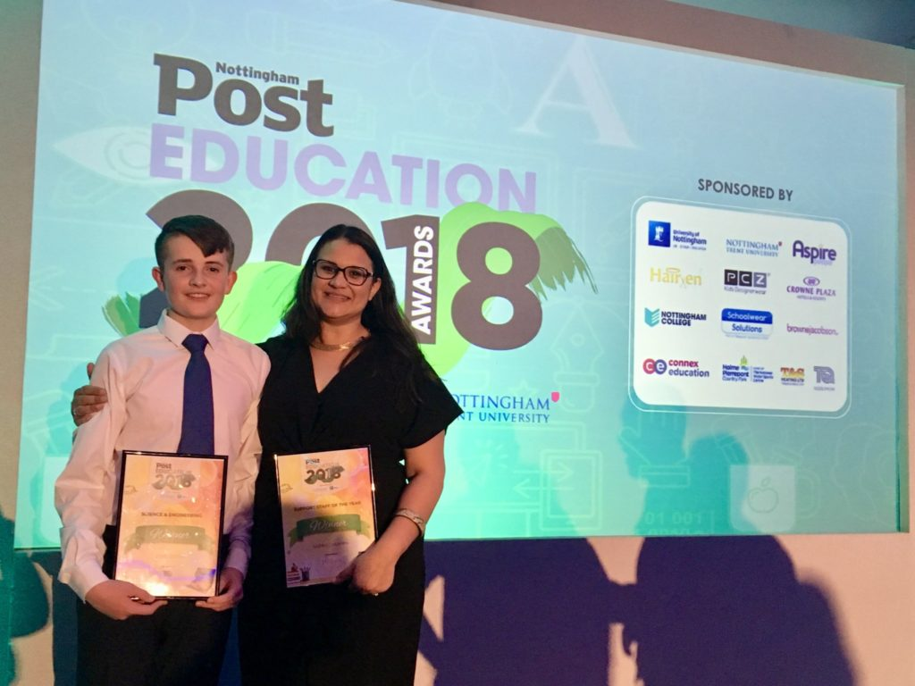Accolades for Holgate at Nottingham Post Education Awards