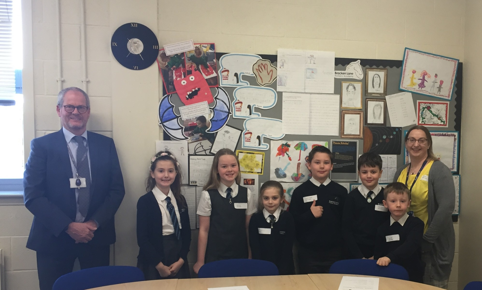 CEO welcomes visit from Bracken Lane Primary pupils