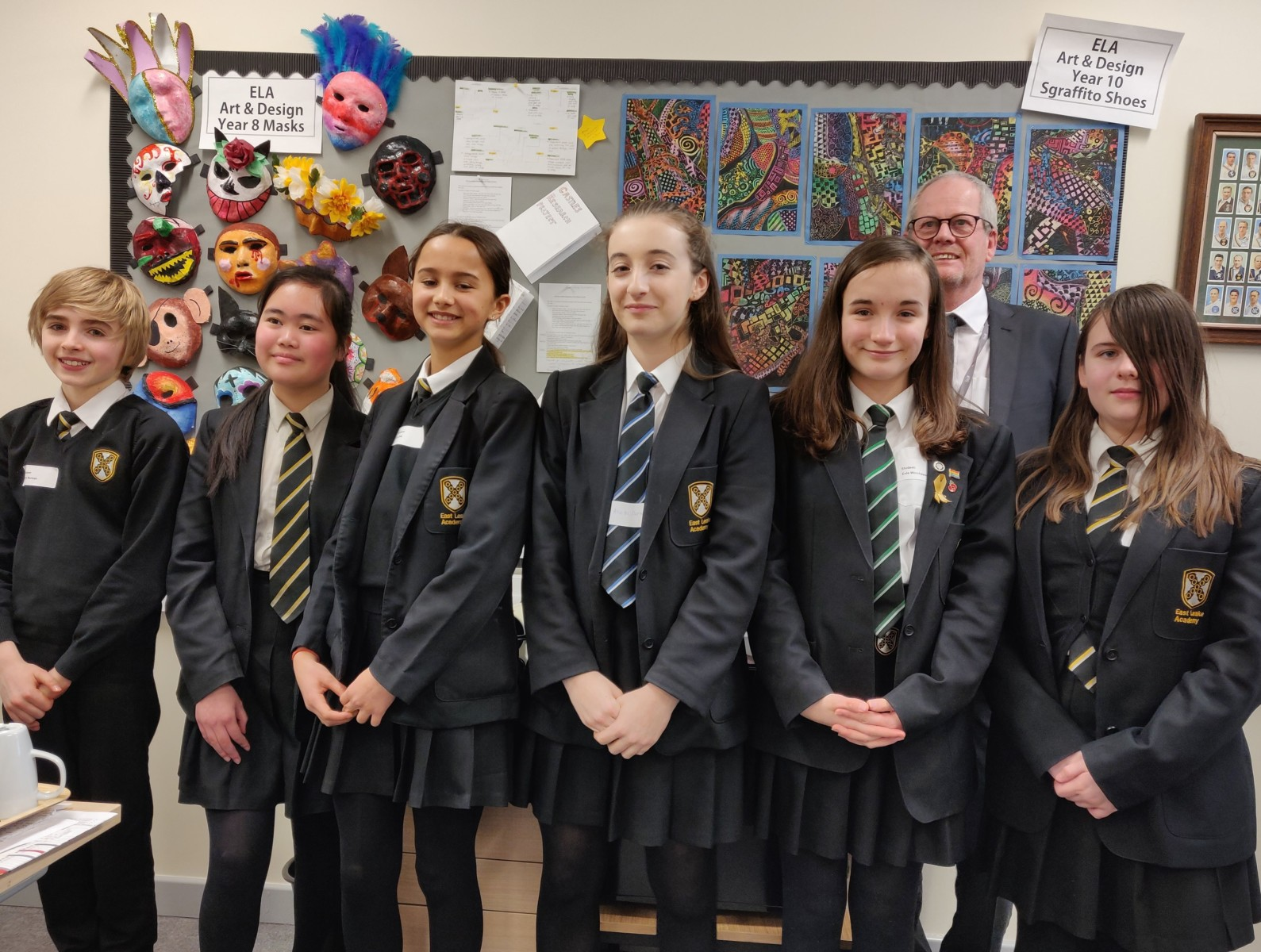Head office staff welcome special visitors from East Leake Academy