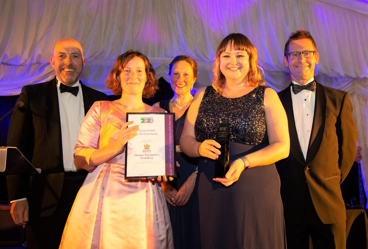 Queen Elizabeth's Academy receive prestigious community award