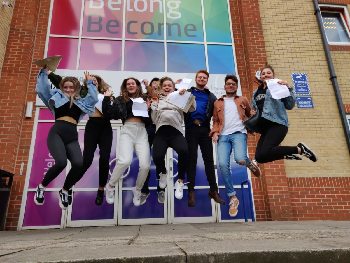 Students celebrate successes as A Level pass rate rises across Diverse Academies